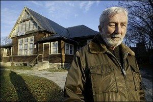 Charles Petitti, former commander, stood at American Legion Post 17 in Brighton. A developer has bought the building, and has aided the veterans. (Bill Greene/ Globe Staff)